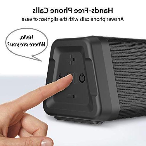 iLuv Audmini Plus V4.2 Bluetooth with HD Full Bluetooth Range, IPX5 Resistance, Deep Speaker iPhone, Echo