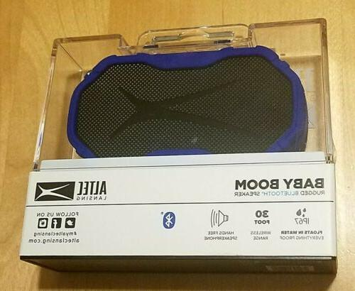 Altec Baby Boom Wireless Speaker, SEALED Blu/Sil/Blk