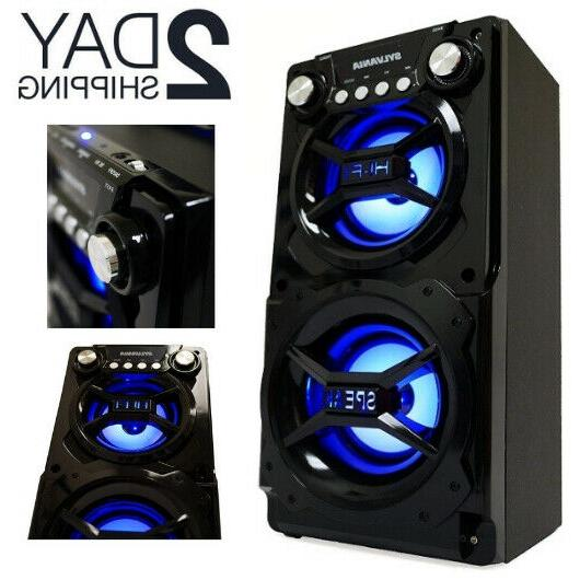 bluetooth party speaker system big led portable