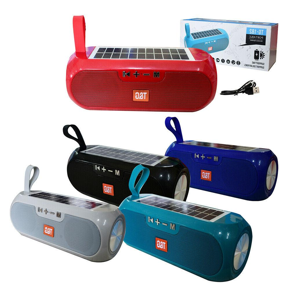 Bluetooth Speaker Wireless Stereo Solar Power Loudspeaker FM