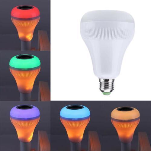 Bluetooth Speaker Music LED Light Bulb 18W RGB E27 Wireless