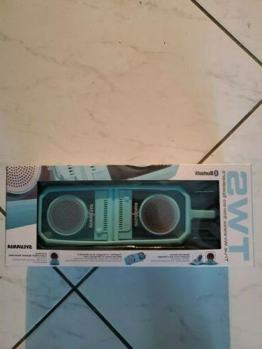 bluetooth stereo speaker pair aqua