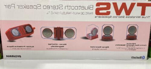 Sylvania TWS True Wireless Stereo Magnetic Speakers Pair