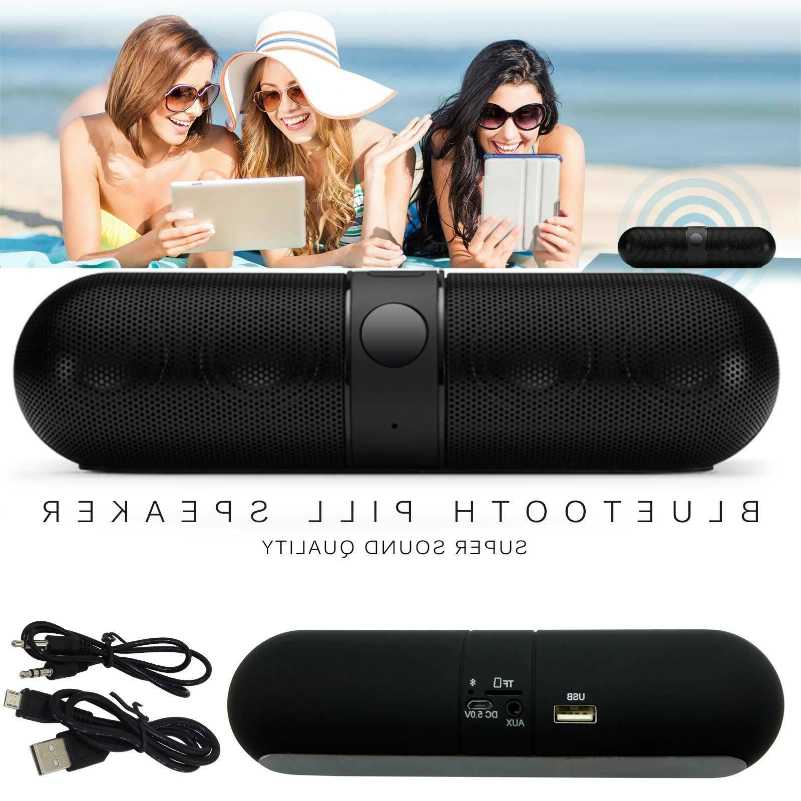 bluetooth wireless speaker mini pill super bass