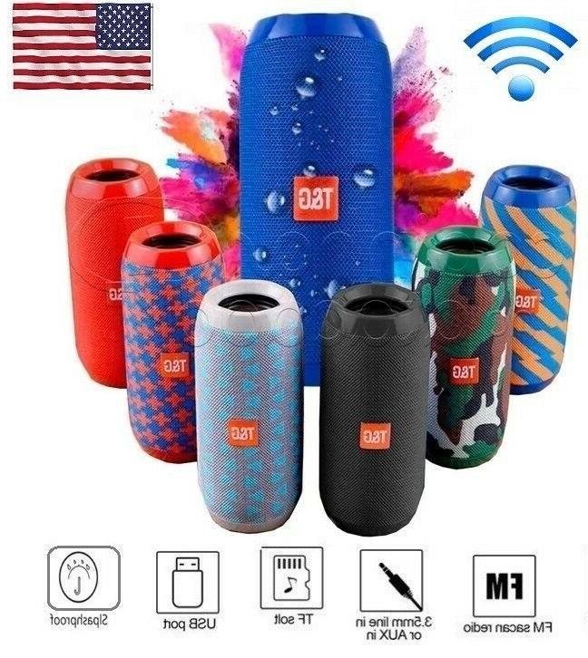bluetooth wireless speaker waterproof stereo bass outdoor