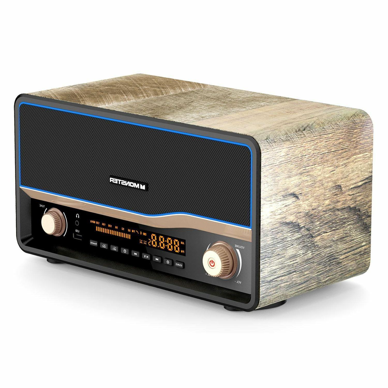 Monster Retro Bluetooth 4.0 Radio Fast Qi Wireless Charging