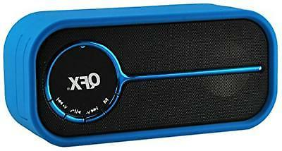 QFX BT-40BLU/BL Portable Rechargeable Bluetooth Speaker with