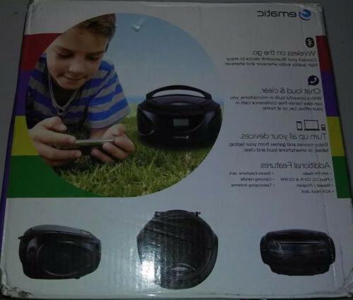 cd boombox with am fm radio bluetooth