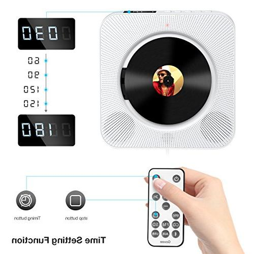 CD Govee Portable with Control Mountable Screen Speaker CD Supports USB, SD Card Aux Input