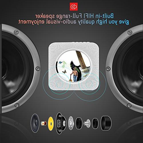 Portable Alice Dreams CD Player Speaker Remote Control 3.5MM Headphone AUX
