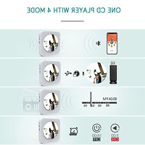 Portable cd Dreams Wall CD Music Speaker Remote MP3 3.5MM Jack