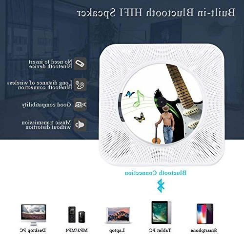 Dreams Wall Wireless CD Music Speaker with Remote MP3 3.5MM Headphone Audio AUX Input/Output