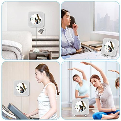 Portable Player, Alice Dreams mountable Wireless CD Player Speaker MP3 Remote Control and 3.5MM Audio AUX Input/Output