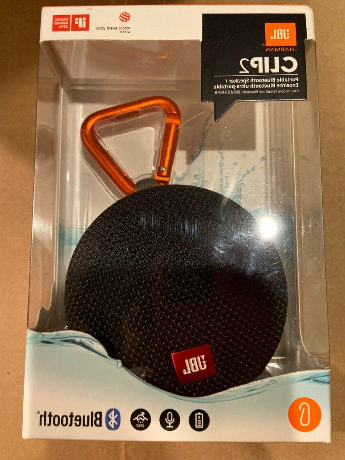 clip 2 waterproof portable bluetooth speaker black
