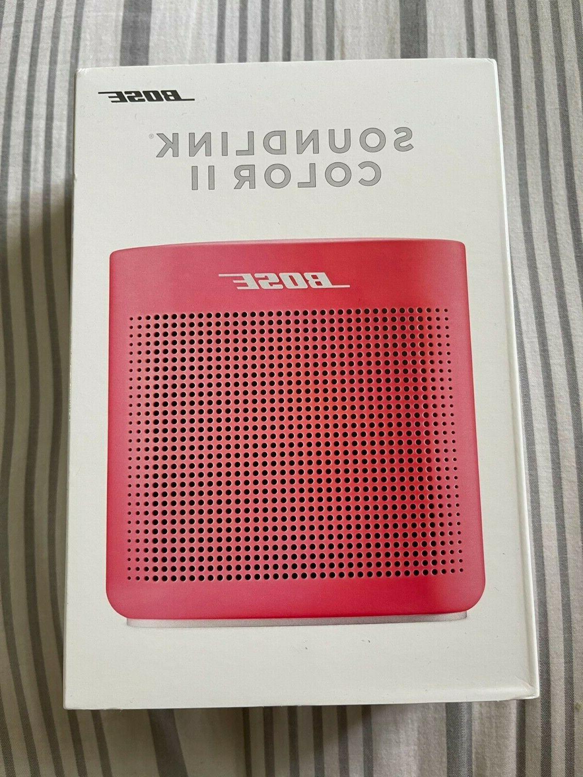coral red soundlink color portable bluetooth speaker