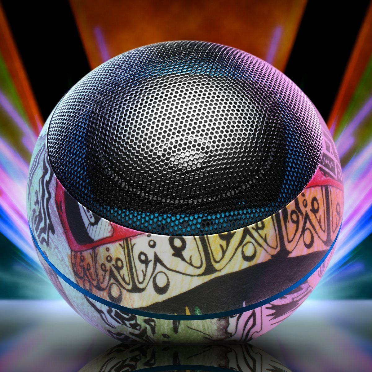 Dance Music Bluetooth Travel Speaker 32 Hour Rechargeable Battery by