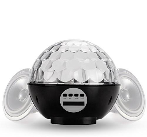 Disco Speaker Bluetooth, Strobe Club Dj Lighting Effect Stage Light Suitable for Kids Birthday Home KTV Xmas Show Pub
