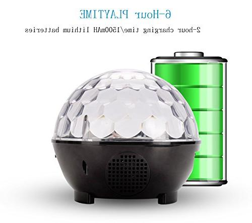 Disco Ball Party Lights Speaker with Strobe Club Effect Led Stage Light for Home KTV Xmas Show
