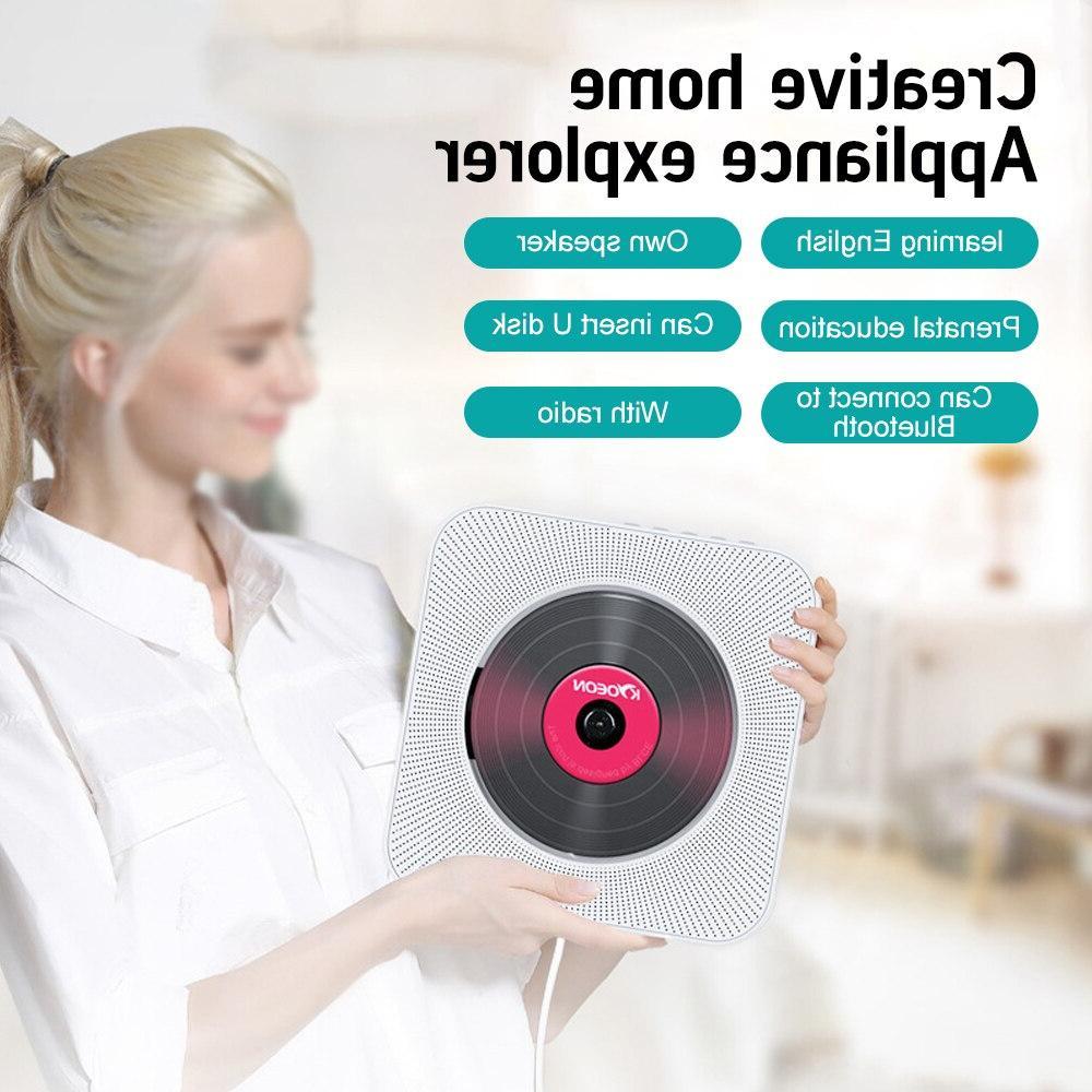 Mounted <font><b>Bluetooth</b></font> <font><b>Speaker</b></font> Prenatal Home Boombox For TV AV <font><b>CD</b></font>