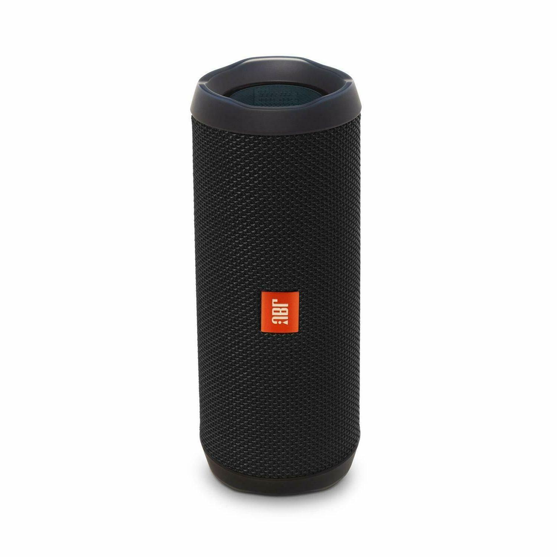 flip 4 bluetooth portable stereo speaker black