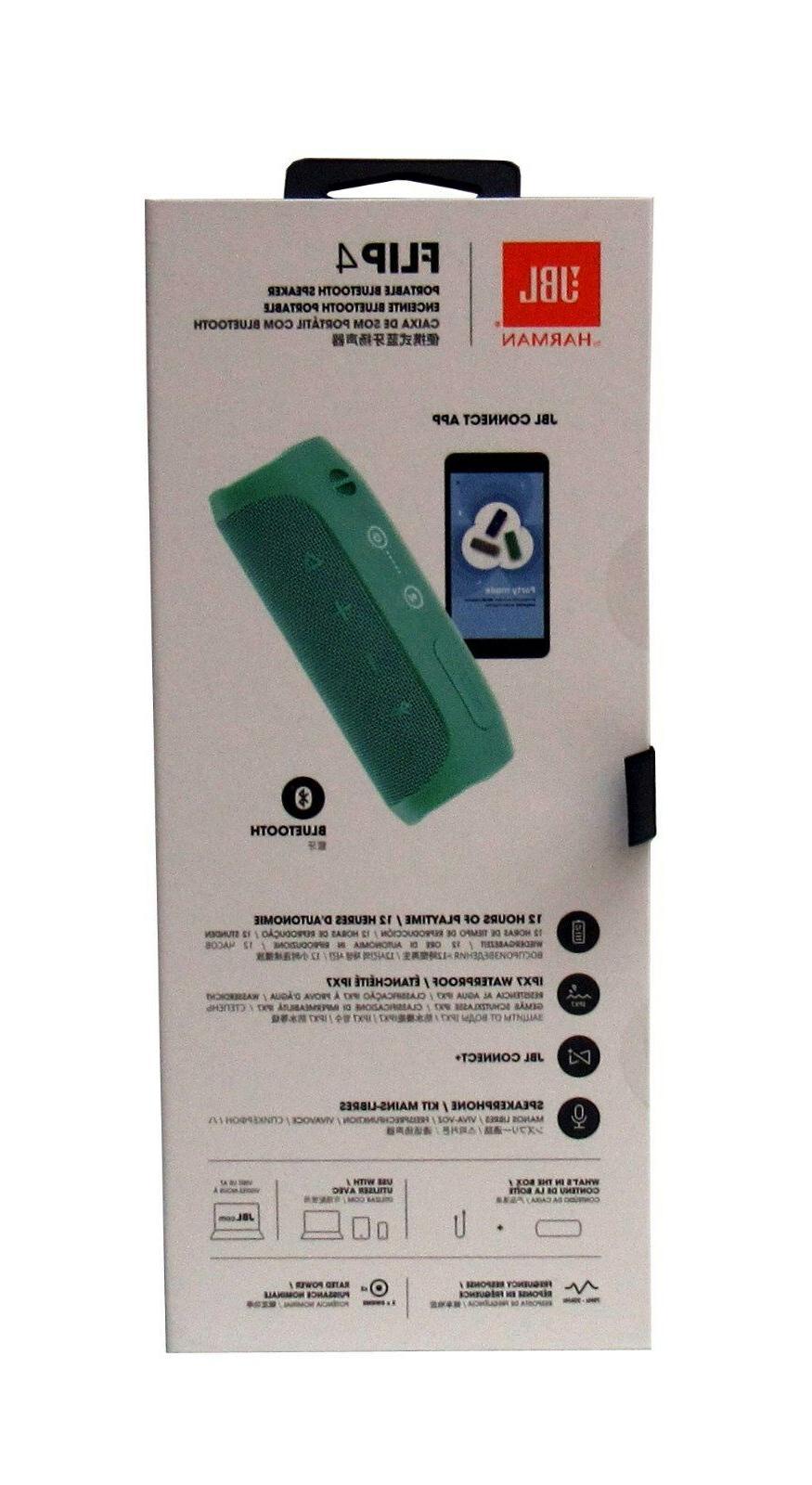 JBL Flip Waterproof Portable Sealed *FLIP4TEAL