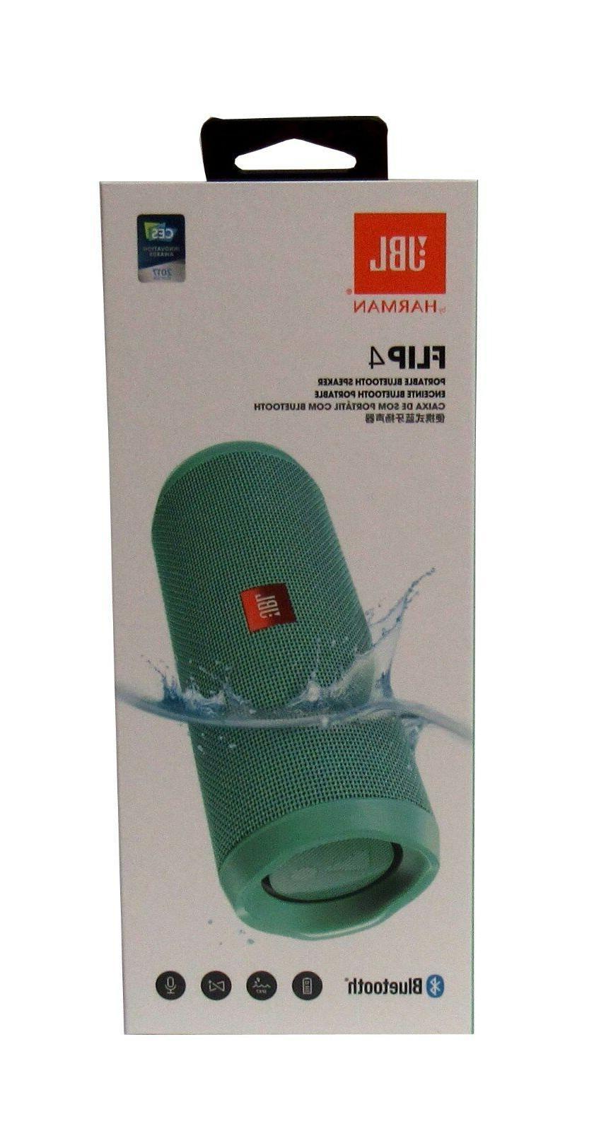 flip 4 waterproof portable bluetooth speaker teal