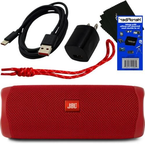 flip 5 bluetooth waterproof portable speaker red