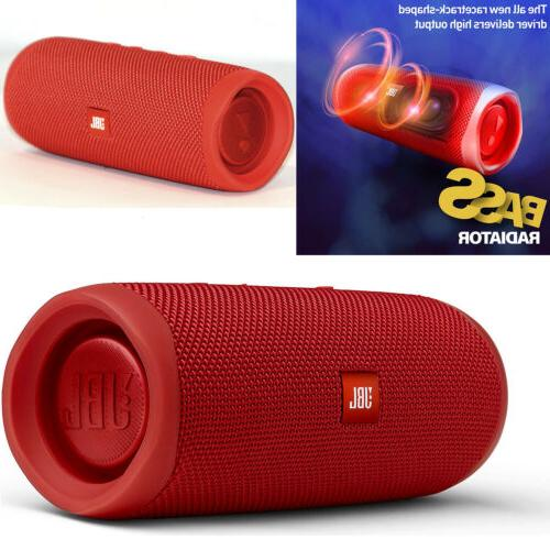 JBL Waterproof Portable Speaker,Red Strap, Cabl, Adaptr