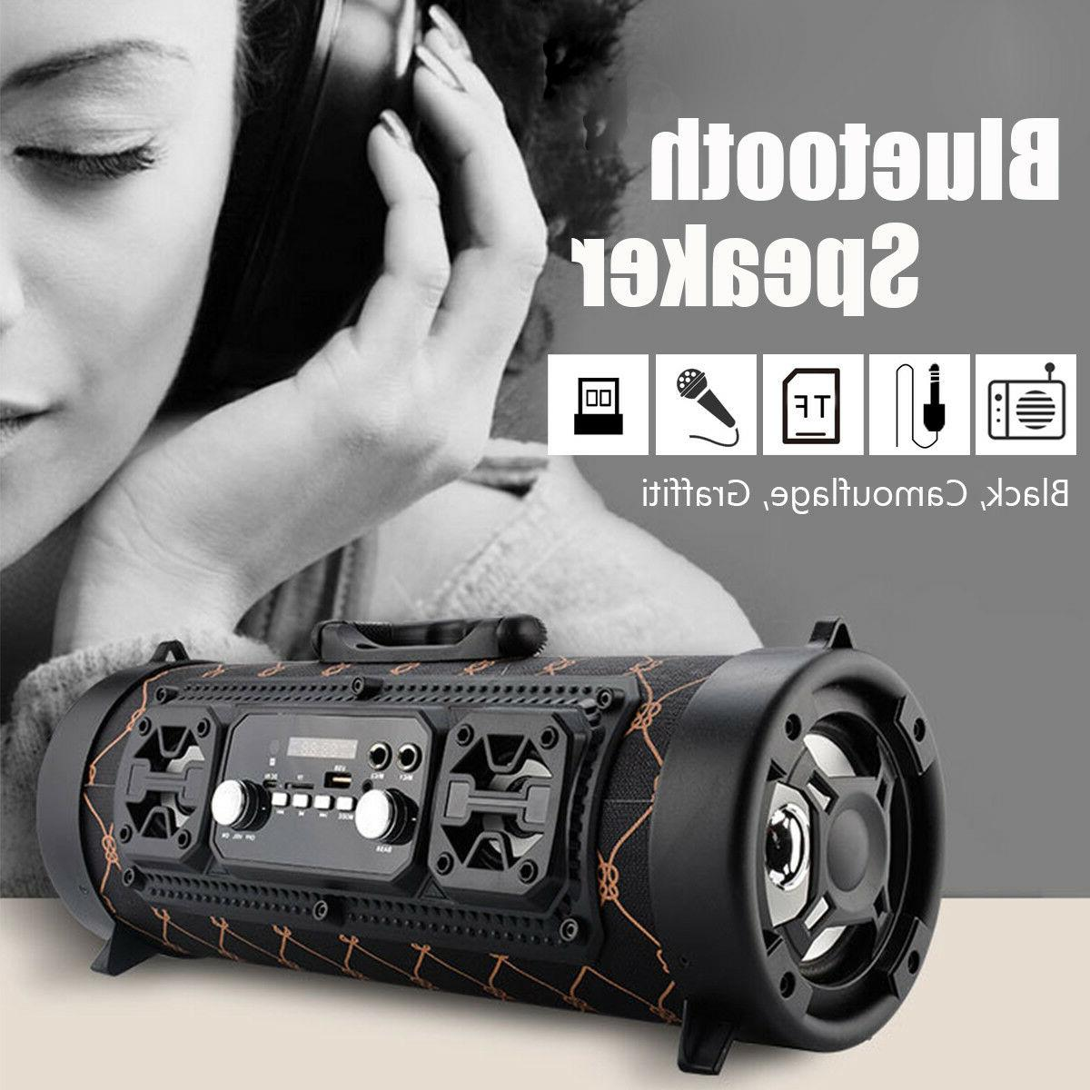 Wireless Portable bluetooth Speaker Stereo Bass AUX Music