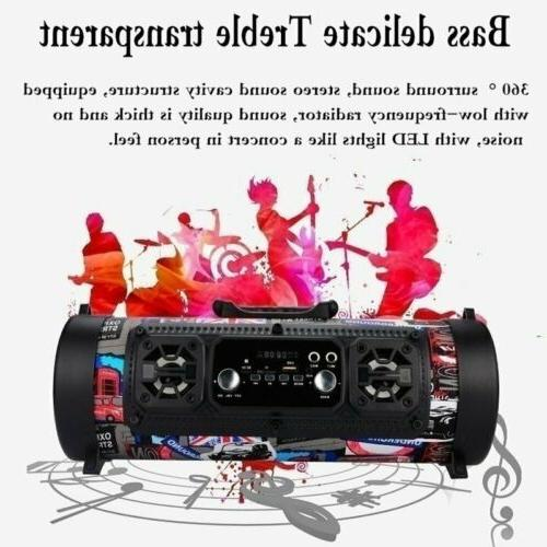 FM Bluetooth Speaker Wireless Super Bass
