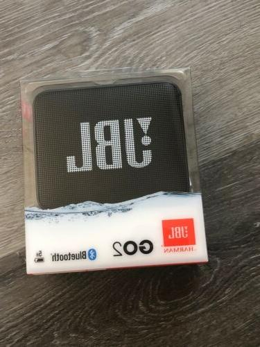 go 2 portable bluetooth waterproof speaker black