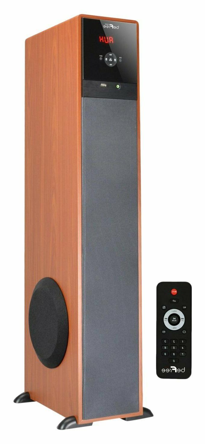 Home Music Bluetooth Power Tower Audio Sound Floorstanding S