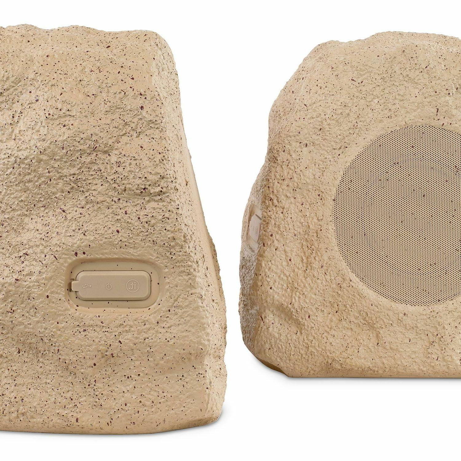 Innovative Technology Outdoor Rock Speakers, Tan