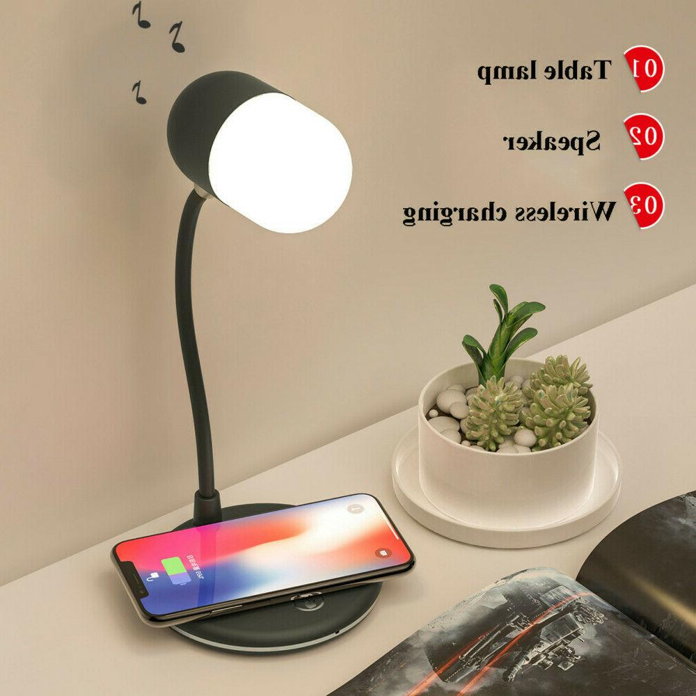 Qi Wireless Charging LED Desk Lamp Night Light with Bluetoot