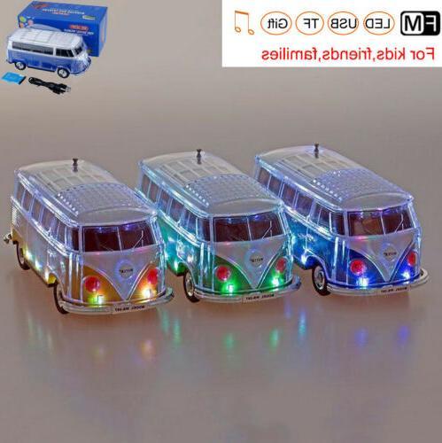 LED Light Wireless Bluetooth Speaker FM Radio Docks Mini Home
