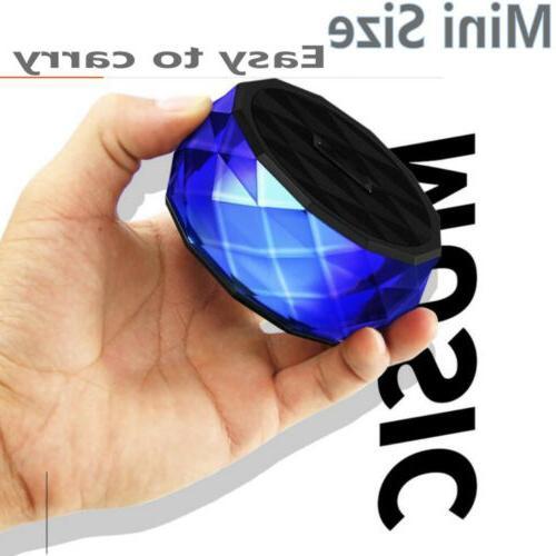LED Portable Mini Speaker W TF Slot FM