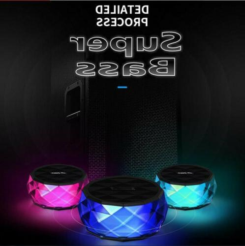 LED Portable Mini Speaker Wireless Bass W FM