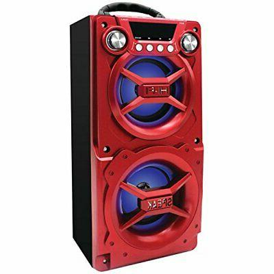 Loud Party Speaker w/LED Lights Bluetooth Big Portable Recha