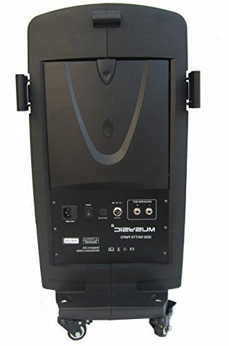 MUSYSIC M-Port PA2K Speakers UHF Mic Rechargeable Battery Bluetooth