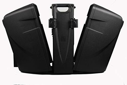 MUSYSIC M-Port PA2K Speakers Dual UHF Wireless Mic Battery Bluetooth