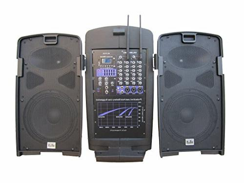 MUSYSIC Portable Speakers UHF Mic Rechargeable Battery