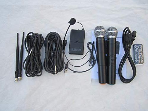 MUSYSIC M-Port PA2K Portable PA System Speakers UHF Mic Battery