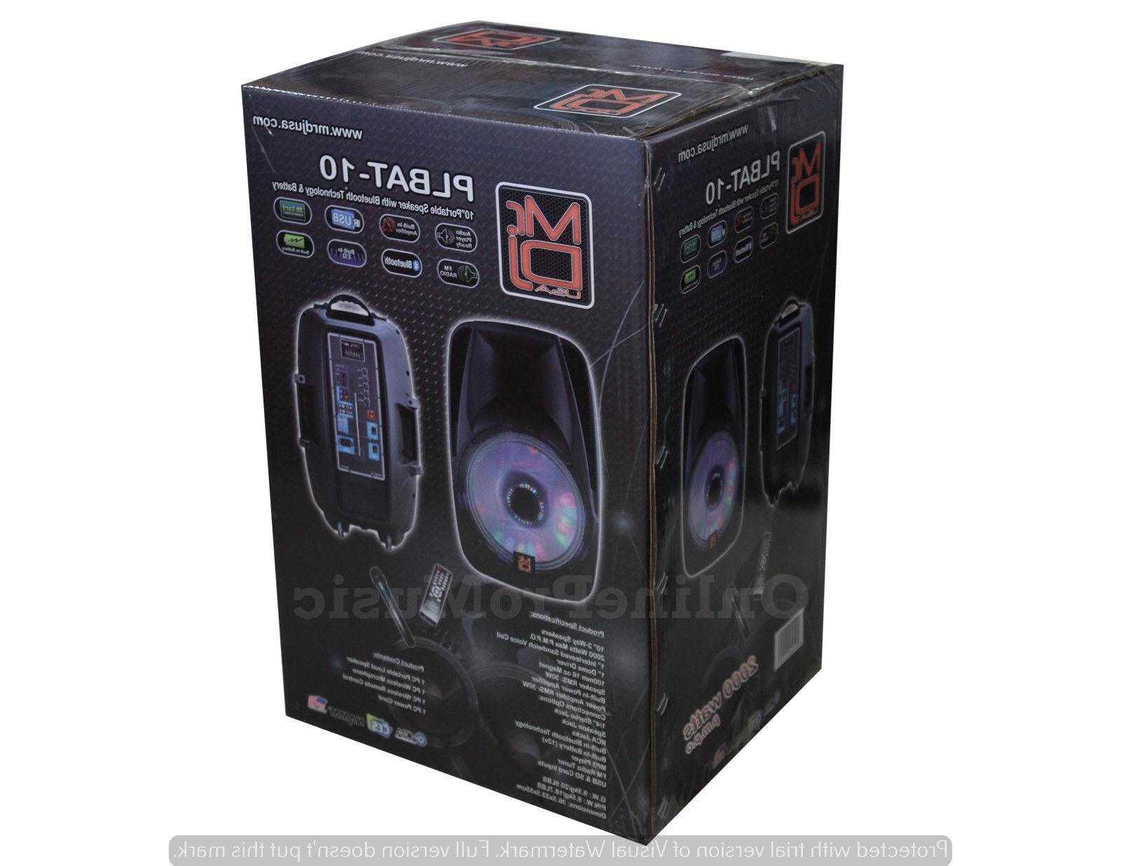 MR.DJ 2000 WATTS PORTABLE SPEAKER W/BLUETOOTH TECHNOLOGY &