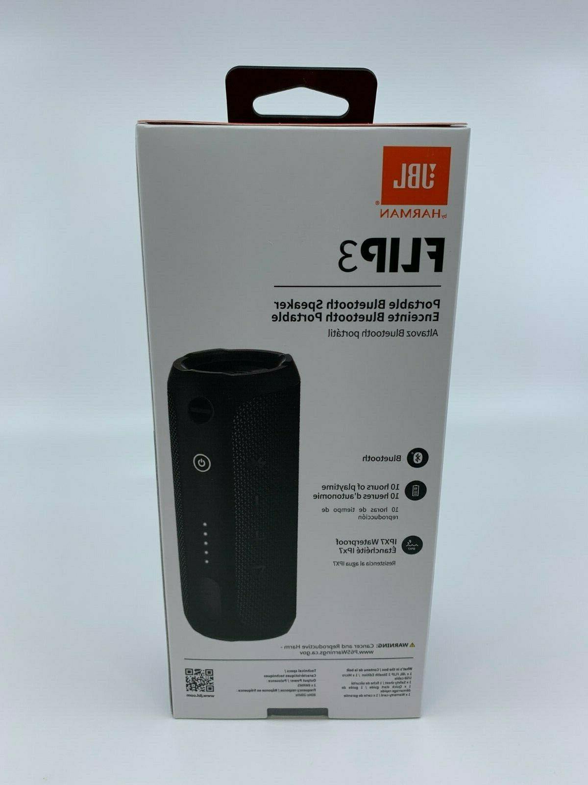 New & Sealed JBL Flip 3 Stealth Edition Portable Bluetooth Black