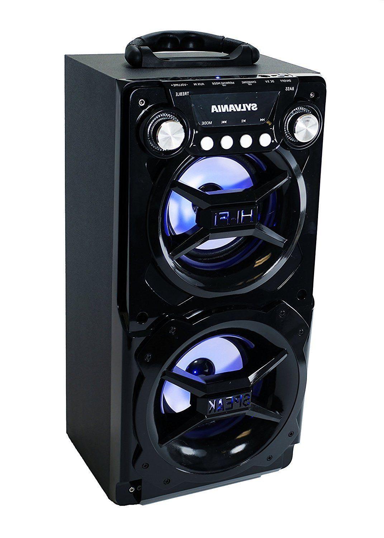 NEW Sylvania Black Bluetooth Speaker Smartphone Huge
