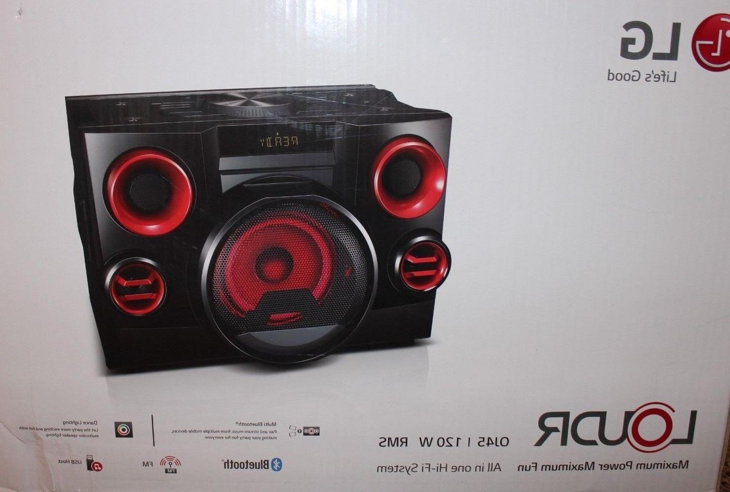 New LG - LOUDR OJ45 120W Bluetooth Wireless/CD/FM  Music Hi-