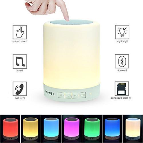 night light bluetooth speaker portable