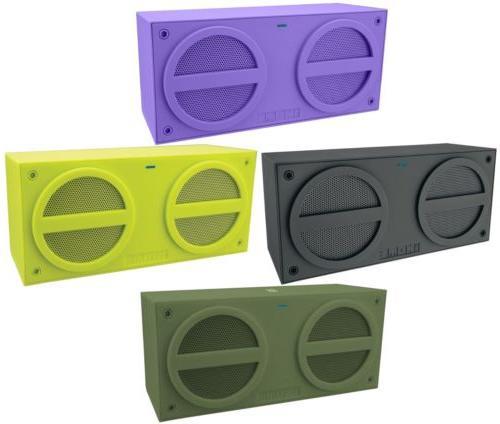 OEM iHOME NFC Bluetooth Rechargeable Mini Stereo Speaker Rub