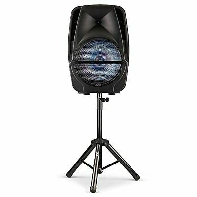 """QFX PBX-61161 15"""" Portable Party Speaker with Wireless Micro"""