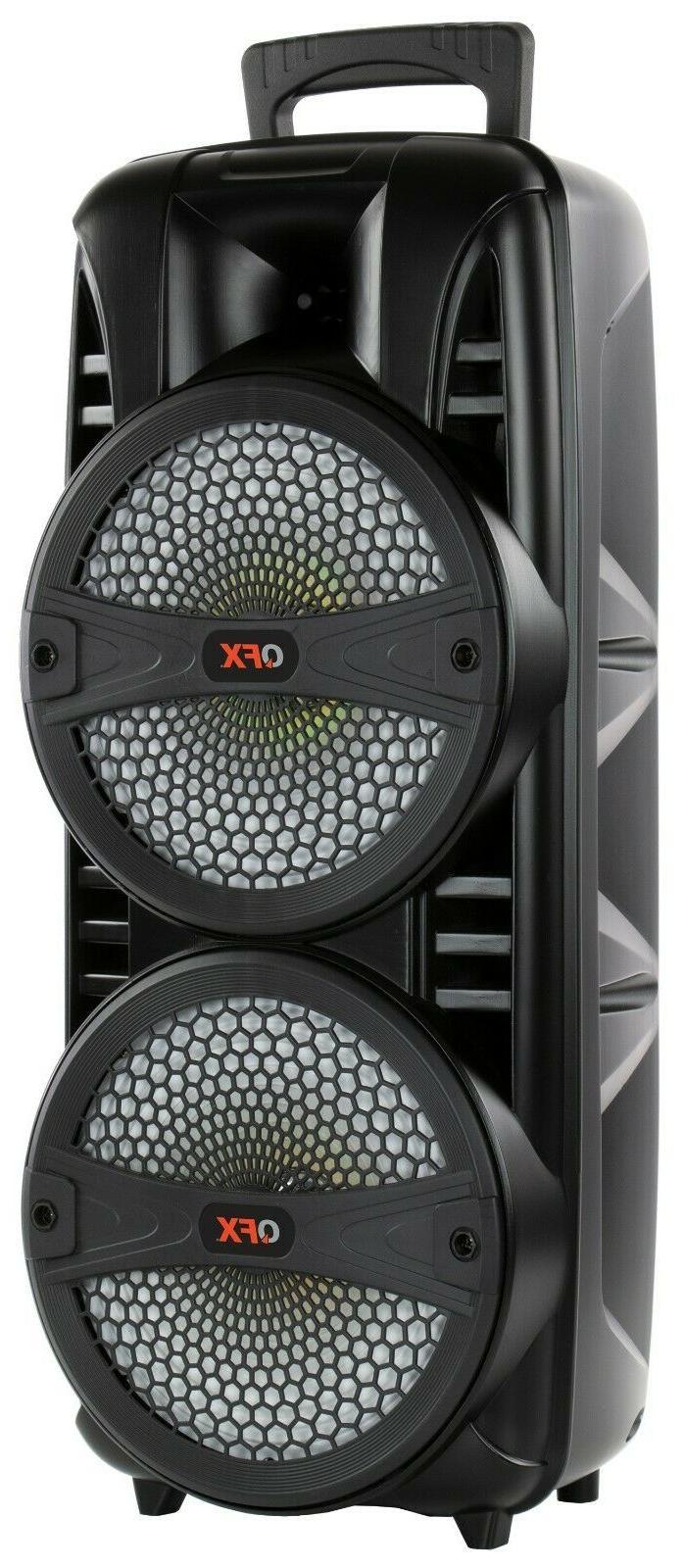 """QFX PBX-8181 8"""" +TWS Bluetooth +USB/SD/FM +RGB Light"""